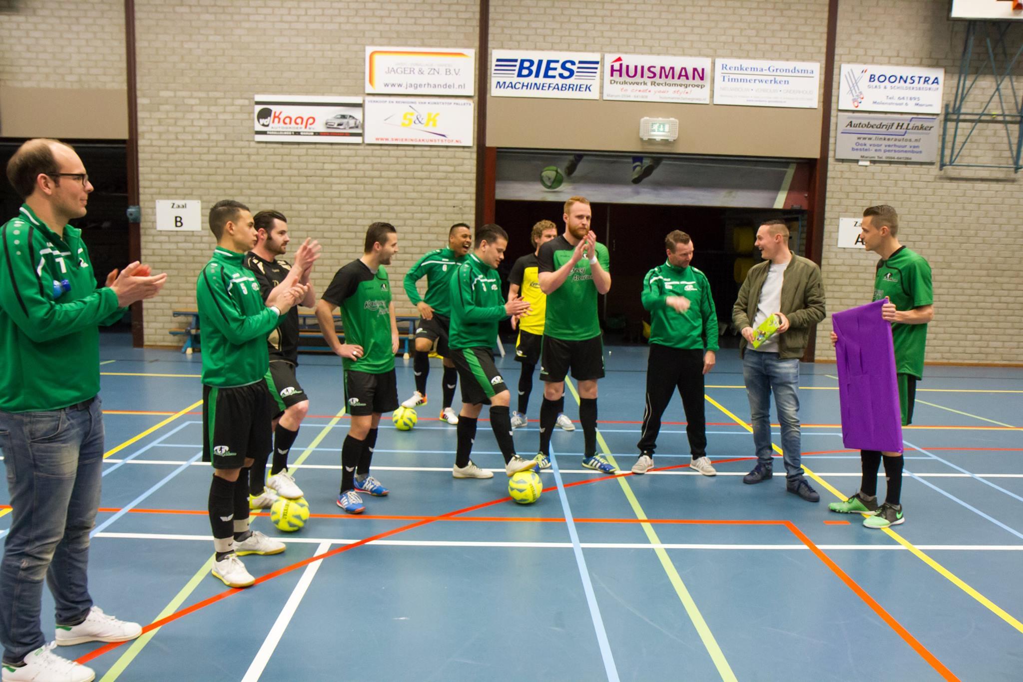 Futsal Marum haalt €874,34 op bij de Rabo ClubSupport